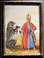 Jacopo ligozzi, giannizzero e l'orso, tempera su vetro, collez. privata.JPG