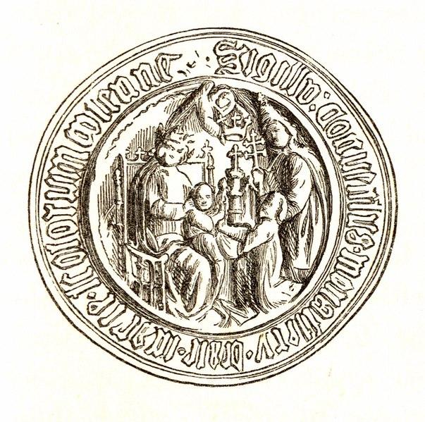 File:Jahrbuch MZK Band 03 - mittelalterliche Siegel Fig 25 Benediktinerstift Schottenkloster 2.jpg