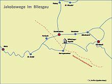 Jakobsweg Franken Karte.Wege Der Jakobspilger Wikipedia