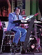 James Brown during the NBA All Star Game jam session