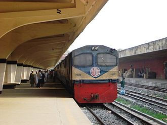 Bangladesh Railway - Bangladesh Railway, Jamuna Express at Kamalapur Railway Station (dual gauge)