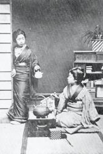 Japan–United Kingdom relations - Photo at Knightsbridge by W. S. Gilbert, c. 1885