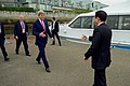 Japanese Foreign Minister Kishida Greets Secretary Kerry Upon Arrival to the Grand Prince Hotel pier (25739656354).jpg