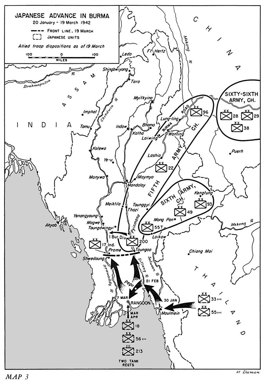 Japanese advance in Burma, 20 January-19 March 1942