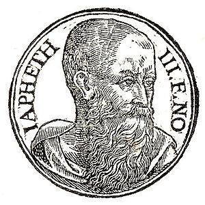 "Japheth - ""Japheth third son of Noah"", as depicted in Promptuarii Iconum Insigniorum (c. 1553)"