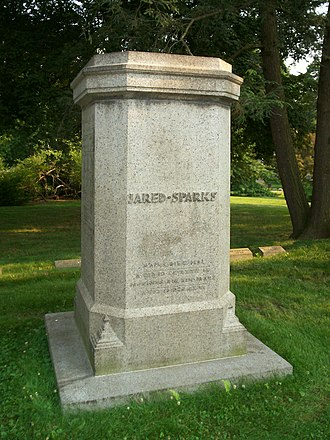 Jared Sparks - Grave of Jared Sparks at Mount Auburn Cemetery