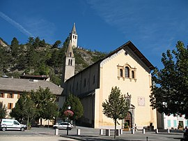 The church of Saint-Nicolas de Myre, in Jausiers