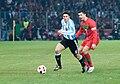 Javier Zanetti (L), Cristiano Ronaldo (R) – Portugal vs. Argentina, 9th February 2011 (1).jpg