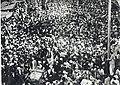 Jawaharlal Nehru in a procession at Peshawar,North West Frontier Province, 14 October 1937.jpg
