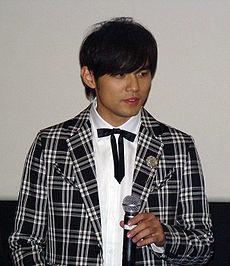 2008年於韓國出席《不能說的秘密》電影首映會
