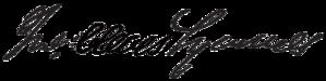 John Cleves Symmes - Image: Jcsymmessignature