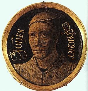 Melun Diptych - Medallion originally on the frame now Louvre