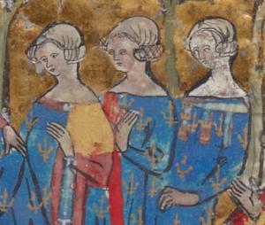 Joan, Countess of Blois - Image: Jeanne de Châtillon et Béatrice de Bourbon et Blanche d'Artois
