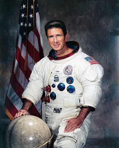 Astronaut James Irwin, NASA photo (7 October 1971)Source: Wikipedia (jsc.nasa.gov unavailable March 2019) 384px-Jim_Irwin_Apollo_15_LMP.jpg