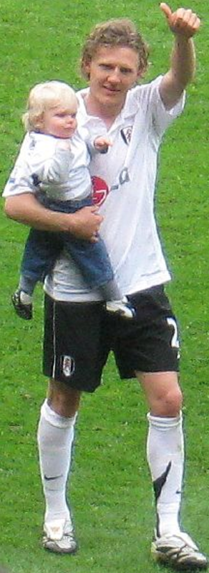 Jimmy Bullard - Bullard at Fulham with his son, May 2008