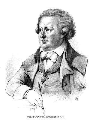 Johan Tobias Sergel - Johan Tobias Sergel. Lithograph by Alexander Clemens Wetterling, 1849