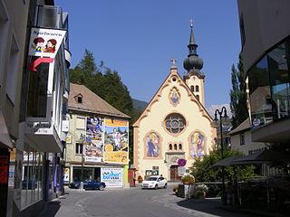 Imst Place in Tyrol, Austria