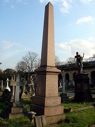 Lionel Monckton - Funerary monument at Brompton Cemetery, London