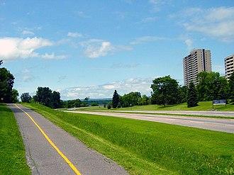 Sir John A. Macdonald Parkway - Bike path beside the Parkway.