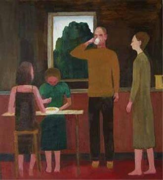 John Bourne (artist) - John Bourne. Epsom Kitchen.