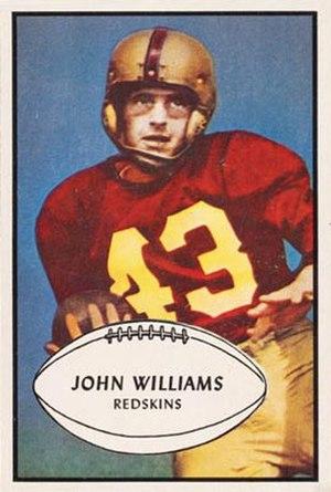 Johnny Williams (American football) - Williams on a 1953 Bowman football card