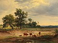 Josef Feid - Open Landscape with Herdsman Resting near Mödling.jpg