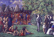 Joseph Preaching to the Indians by C.C.A. Christensen