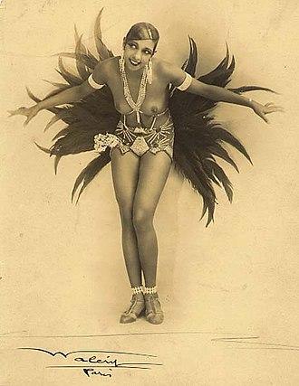 Années folles -  Josephine Baker, iconic figure of the Années folles.