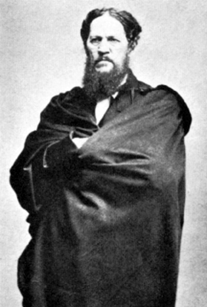 Afghanistan–United States relations - Josiah Harlan, an American adventurer and a political activist shown in this pre-1871 photograph wearing an Afghan robe.