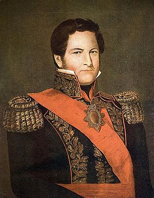 Buenos Aires Province - Governor Juan Manuel de Rosas (1841 oil portrait by Cayetano Descalzi) ruled until 1852 with an iron fist and kept the fragile Confederation under the tutelage of Buenos Aires Province.