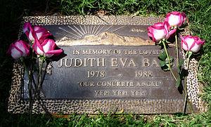 Judith Barsi - Image: Judith Barsi Headstone Grave