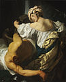 Judith in the Tent of Holofernes by Johann Liss Budapest version.jpg