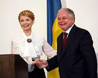 Yulia Tymoshenko - Yulia Tymoshenko and President of Poland Lech Kaczyński, 14 February 2008