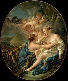Jupiter, in the Guise of Diana, and Callisto by François Boucher.jpg