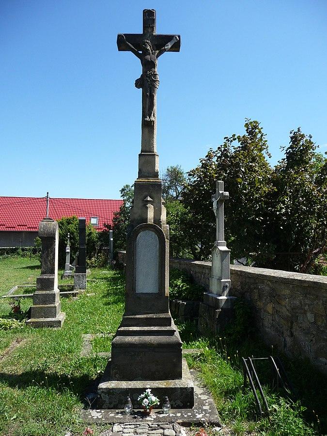 Cemetery cross in the Old Příbor Cemetery