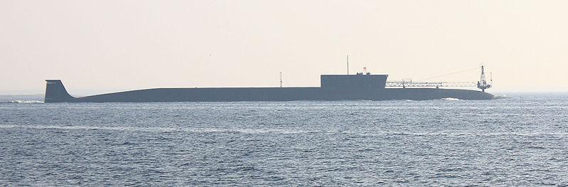 File:K-535 Yuri Dolgorukiy at sea trials.jpg