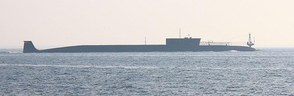 K-535 Yuri Dolgorukiy at sea trials