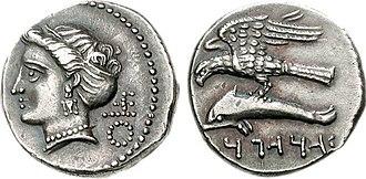 Ariarathes I of Cappadocia - Image: KINGS of CAPPADOCIA Ariarathes I 333 322 BC