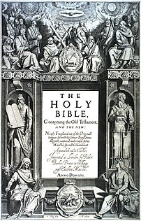 Frontispiece to the King James' Bible, 1611, s...