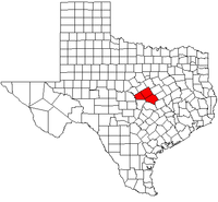 Map of Texas highlighting the Killeen-Temple-Fort Hood Metropolitan Area.