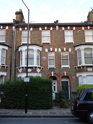 Kwame Nkrumah - 60 Burghley Road, Kentish Town, London, where Nkrumah lived when in London between 1945–1947