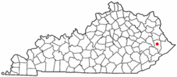 Location of Martin, Kentucky