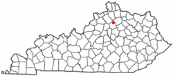 Location of Sadieville, Kentucky