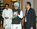 "Kamal Nath presented to the Prime Minister, Dr. Manmohan Singh, his book titled ""India's Century The Age of Entrepreneurship in the World's Biggest Democracy"", in New Delhi on November 29, 2007.jpg"