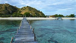Kanawa Island, a touristic island in the Komodo National Park. Source : Wikipedia.