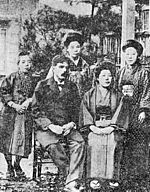 Kanzo Uchimura family in 1910 (Removed Halftone).jpg