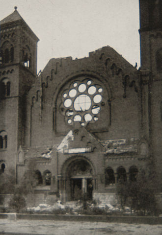 Capernaum Church - The gable towards Seestraße after its destruction in 1944