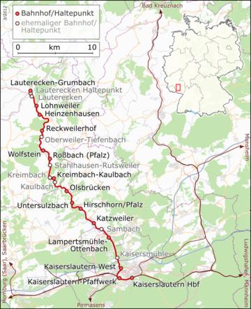 Route of the Lautertal Railway
