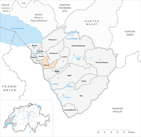 Map of Yvorne