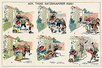 The Katzenjammer Kids - First appearance of Rudolph Dirks' The Katzenjammer Kids (1897)